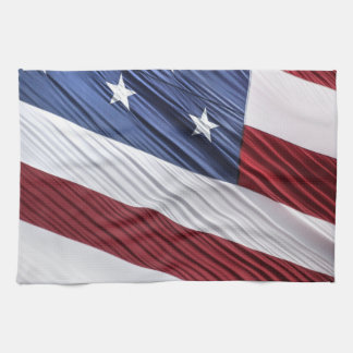 USA Red, White and Blue American Patriotic Flag Towel