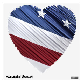 USA Red, White and Blue American Patriotic Flag Wall Decal