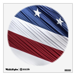 USA Red, White and Blue American Patriotic Flag Wall Sticker
