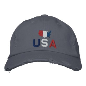 USA Red White and Blue Baseball Cap
