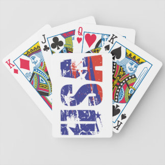 USA RED, WHITE AND BLUE BICYCLE PLAYING CARDS