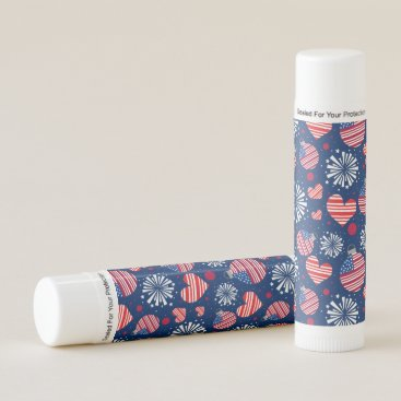 USA Red White and Blue Fireworks | Holidays Lip Balm