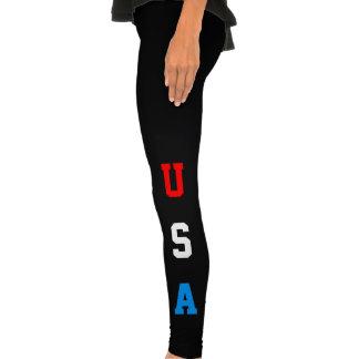 USA Red White and Blue Leggins Legging Tights