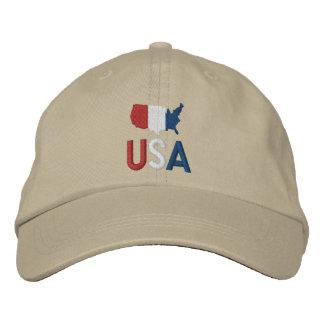 USA Red White and Blue Patriotism Baseball Cap