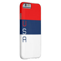 USA Red White and Blue Striped iPhone 6 Case