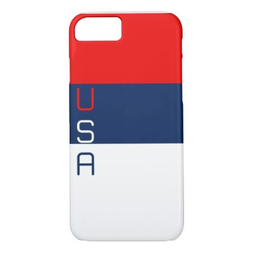 USA Themed USA Red White and Blue Striped iPhone 7 Case