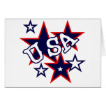 USA Red White and Blue Tshirts and Gifts Card