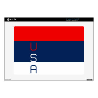 "USA Red White & Blue 15"" Laptop For Mac & PC Skin 15"" Laptop Skin"