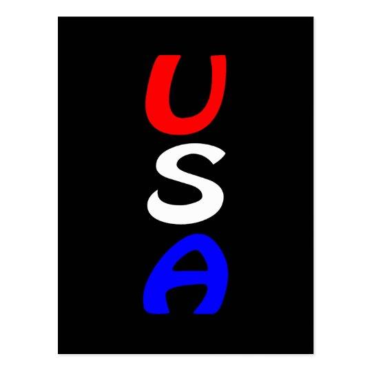 USA Red, White & Blue Postcard