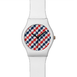 USA Red White Blue Sports Colors Watches