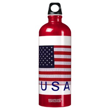 Usa    Red   White  &  Blue Water Bottle by creativeconceptss at Zazzle