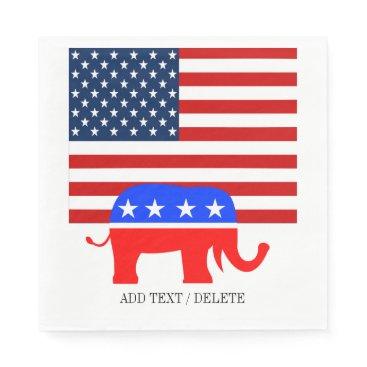 USA Themed USA Republican Napkins
