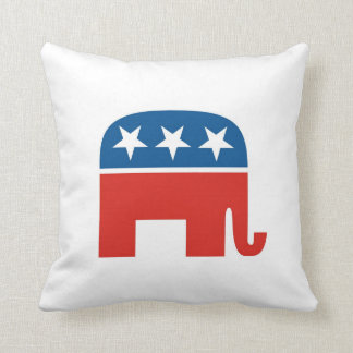 usa republicans party elephant pillow
