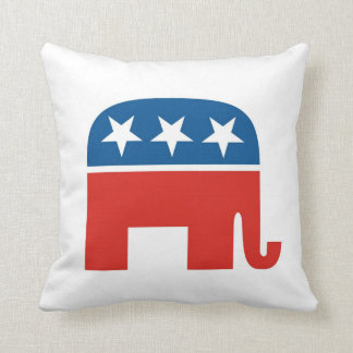 usa republicans party elephant pillow united state