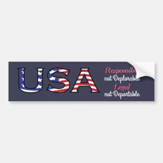 USA Responsible and Legal American Bumper Sticker