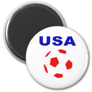 usa retro soccer t shirt magnet