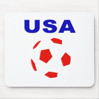 usa retro soccer t shirt mouse pad