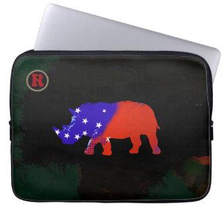 usa rhino animal art computer sleeve