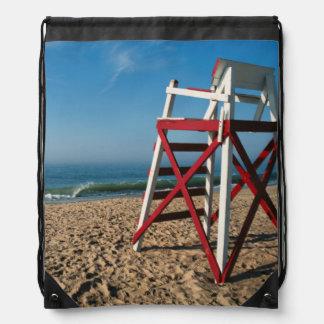USA, Rhode Island, Charleston Beach, Beachfront Drawstring Backpack