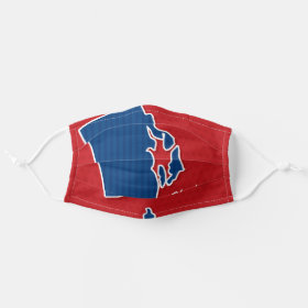 USA Rhode Island State Stars and Stripes Map Cloth Face Mask