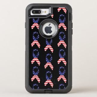 USA Ribbon OtterBox Defender iPhone 8 Plus/7 Plus Case