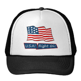 USA!  Right On!  Trucker Hat
