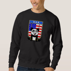 Men's Basic Sweatshirt with American Rings Panda design