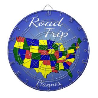 USA Road Trip Planner Dart Board