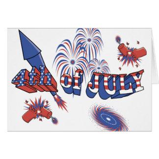 USA-Rocket 4th of July Greeting Card