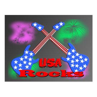 USA Rocks 4th Postcard