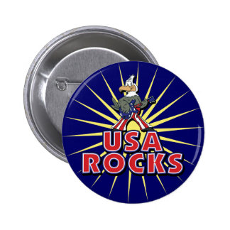 USA Rocks Eagle Button