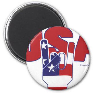 USA Rocks! Fourth of July 2 Inch Round Magnet