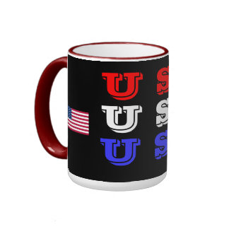 USA* rojo, taza blanca, azul de los E.E.U.U.