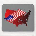 USA rot+Flagge Mauspad