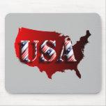 USA rot+Sterne+Streifen Mauspads