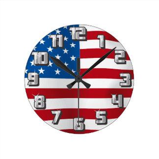 USA ROUND CLOCK