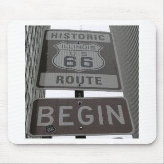 USA Route 66 Americana Hot Rod Cruisin' Mouse Pad