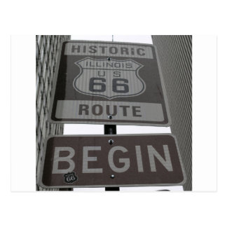 USA Route 66 Americana Hot Rod Cruisin' Postcard