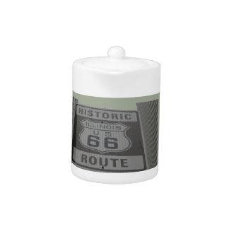 USA Route 66 Americana Hot Rod Cruisin' Teapot