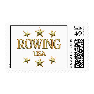 USA Rowing Postage Stamps