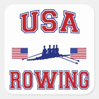 USA Rowing Square Sticker