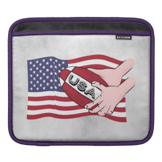 USA Rugby Team Supporters Flag With Ball iPad Sleeve