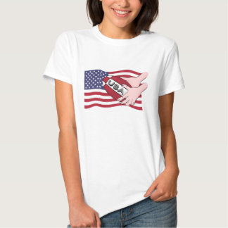 USA Rugby Team Supporters Flag With Ball T Shirt