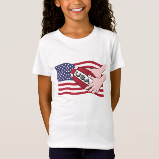 USA Rugby Team Supporters Flag With Ball T-Shirt