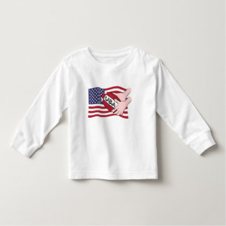 USA Rugby Team Supporters Flag With Ball Tee Shirt