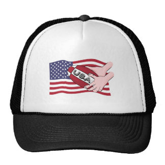 USA Rugby Team Supporters Flag With Ball Trucker Hat