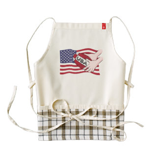 USA Rugby Team Supporters Flag With Ball Zazzle HEART Apron