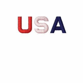 USA RWB Embroidered Classic White Polo Shirt