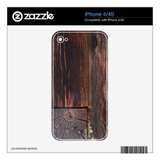 USA, Salmon, Idaho, Log Cabin iPhone 4 Decal
