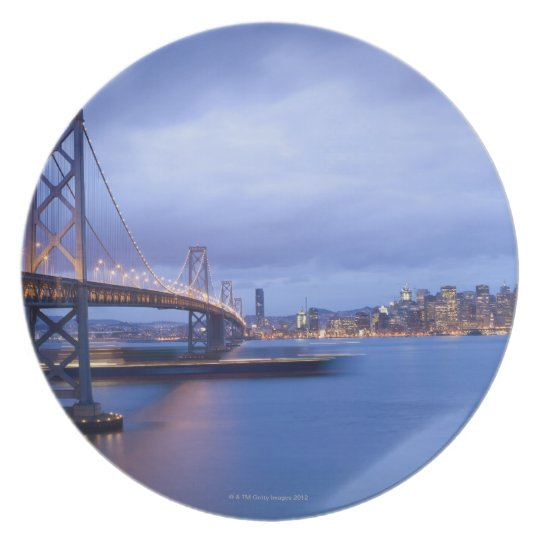 USA, San Francisco, City skyline with Golden 2 Dinner Plate